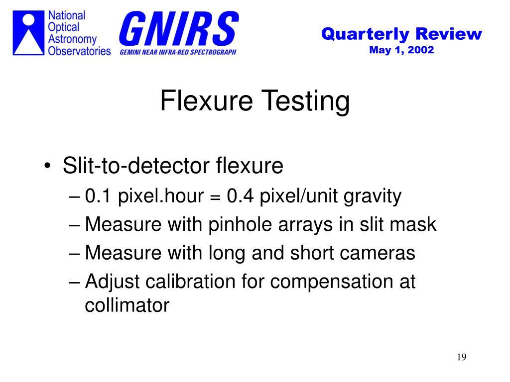 Flexure Testing