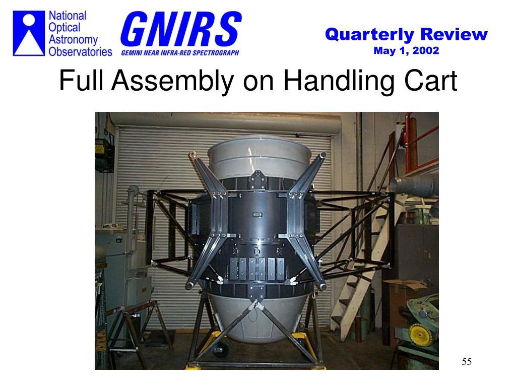 Full Assembly on Handling Cart