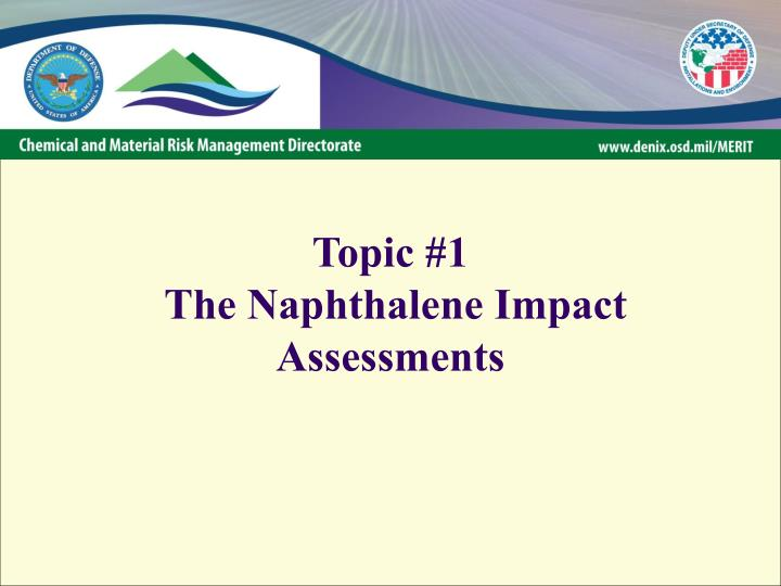 Topic 1 the naphthalene impact assessments