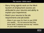 the resume skills match