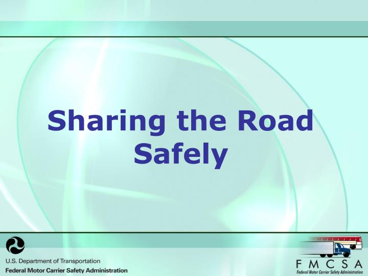 sharing the road safely n.