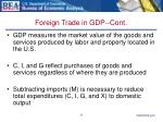 foreign trade in gdp cont