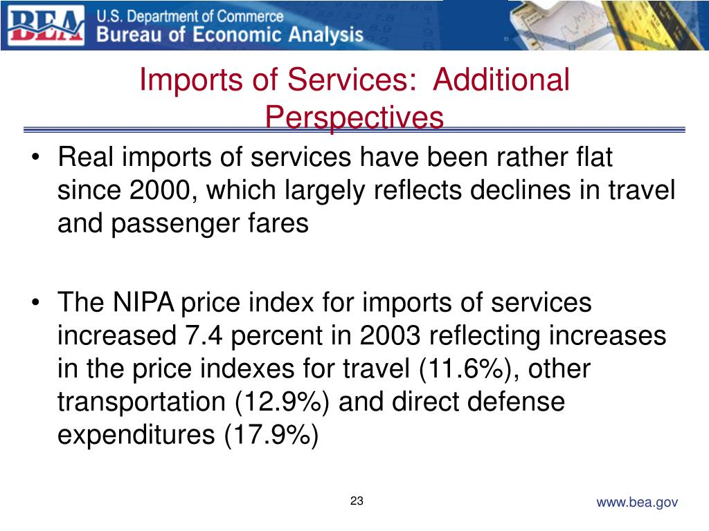 Imports of Services:  Additional Perspectives