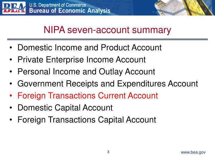 Nipa seven account summary