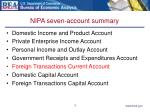 nipa seven account summary