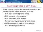 real foreign trade in gdp cont