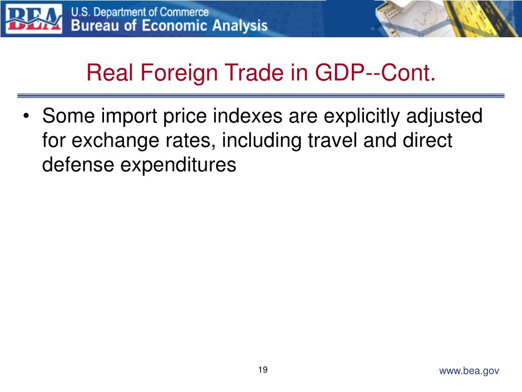 Real Foreign Trade in GDP--Cont.