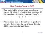 real foreign trade in gdp