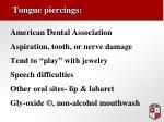 tongue piercings