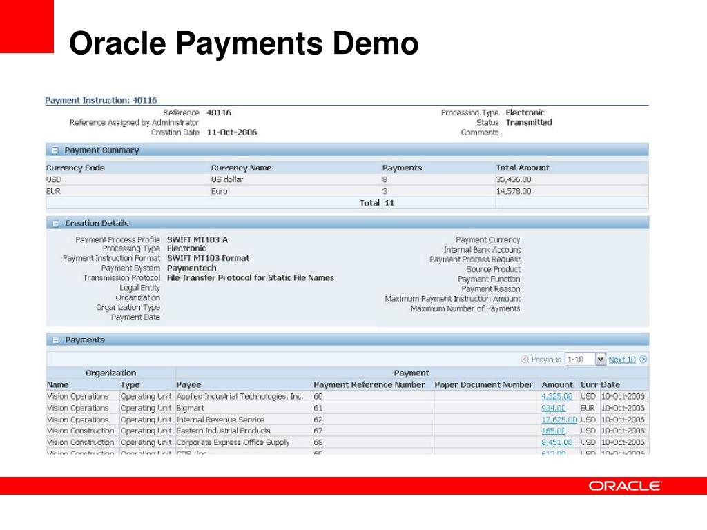 PPT - Payment Processing with Oracle Payments: What's New in Oracle