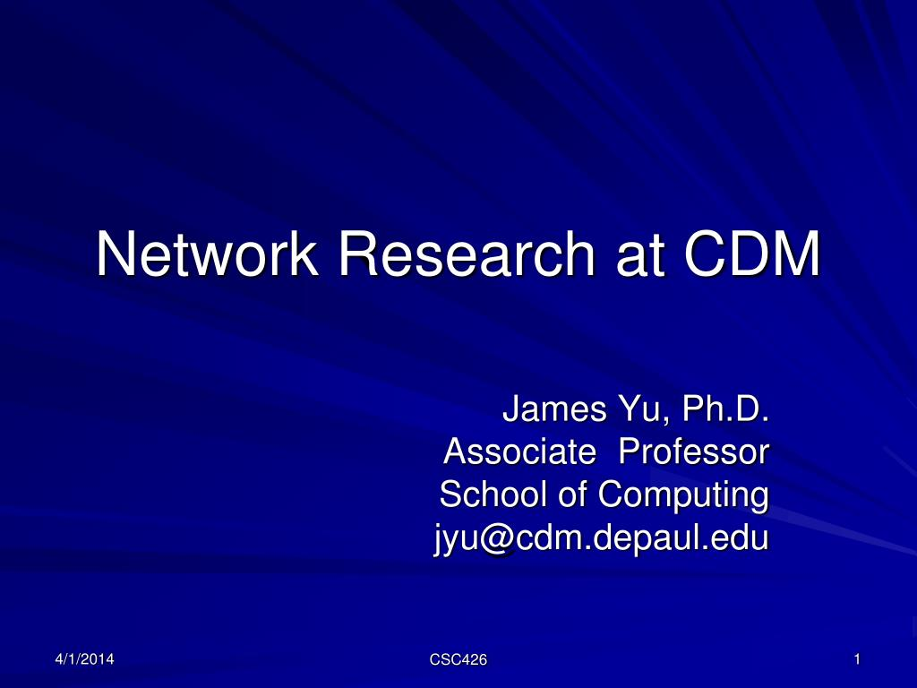 network research at cdm l.