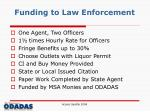funding to law enforcement