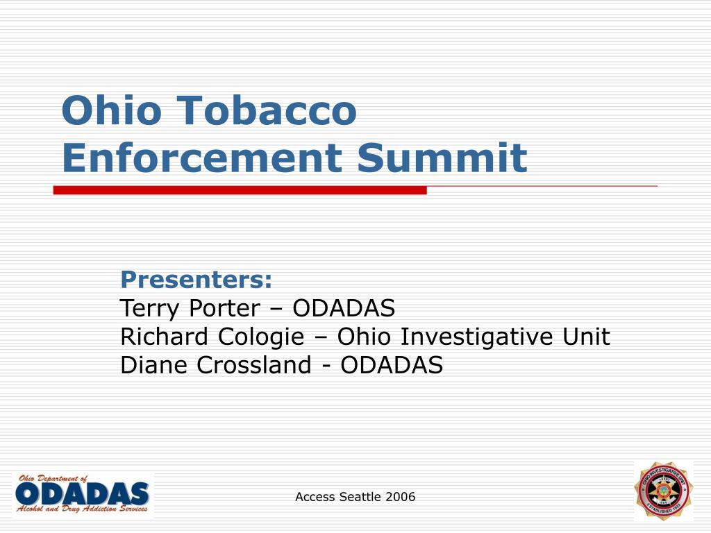 ohio tobacco enforcement summit l.