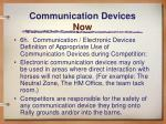 communication devices now