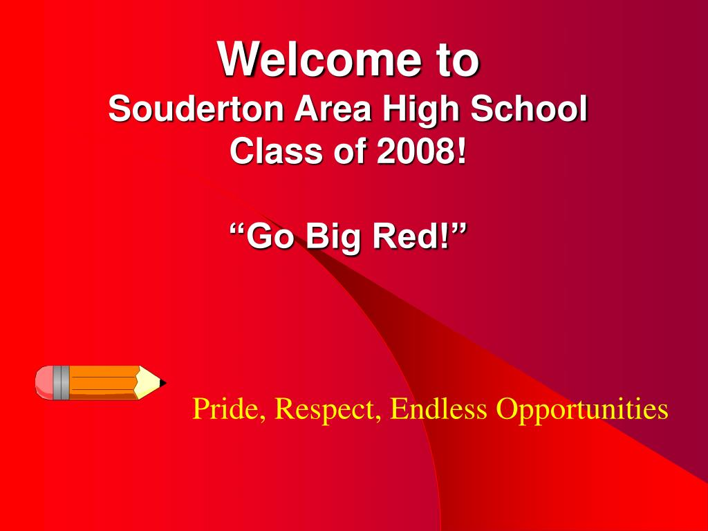 welcome to souderton area high school class of 2008 go big red l.