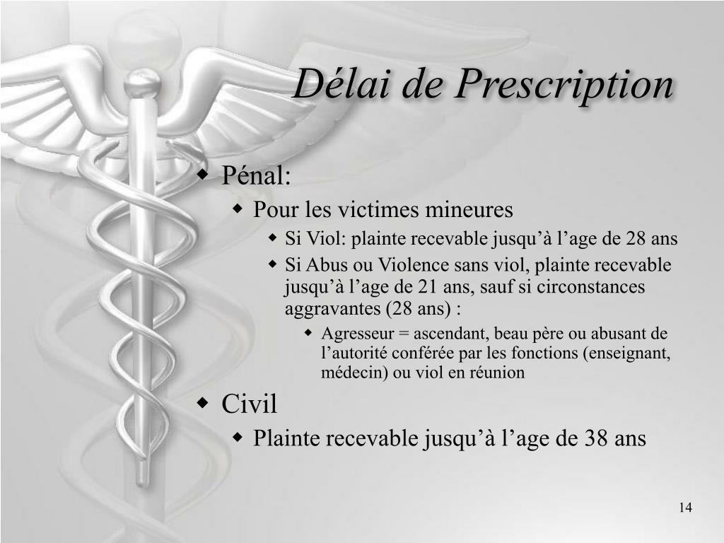 Délai de Prescription
