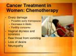 cancer treatment in women chemotherapy