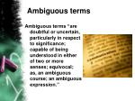 ambiguous terms