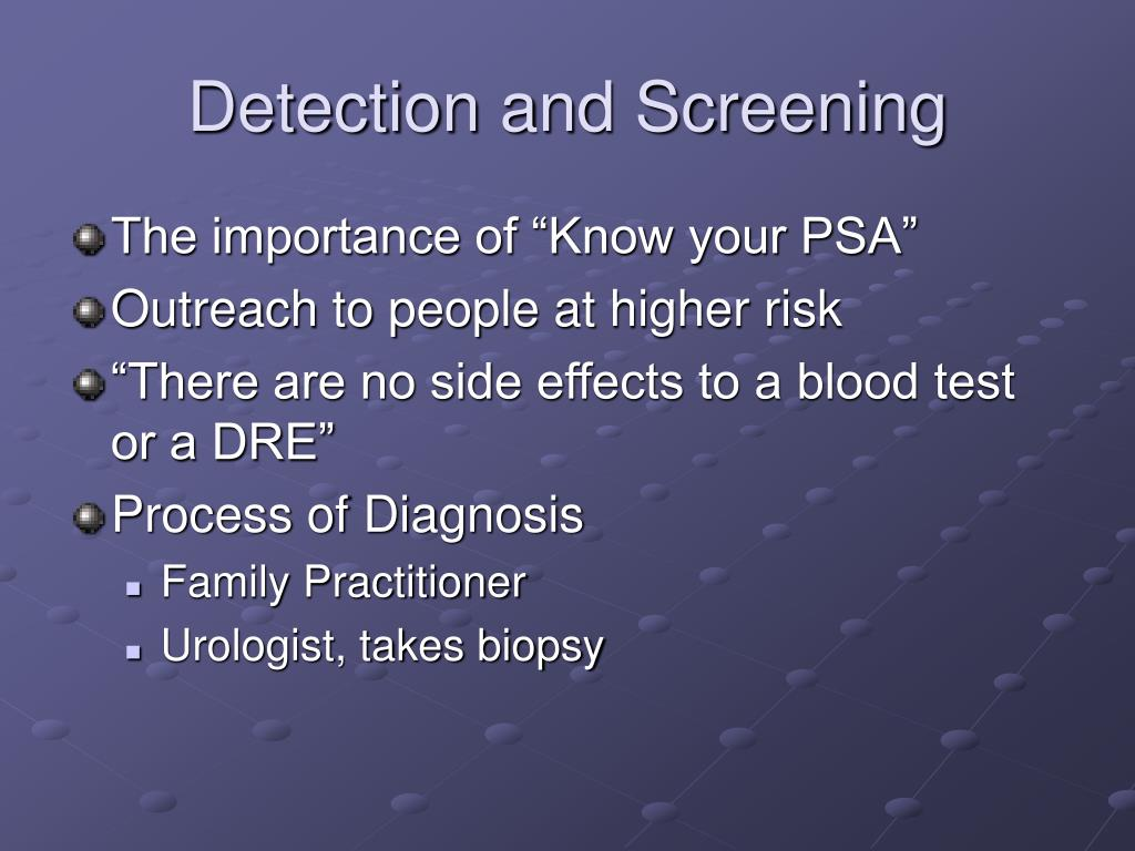 Detection and Screening