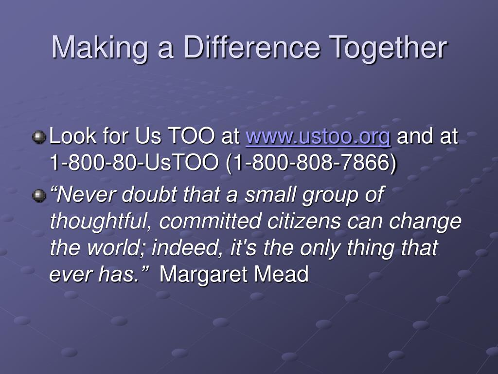 Making a Difference Together