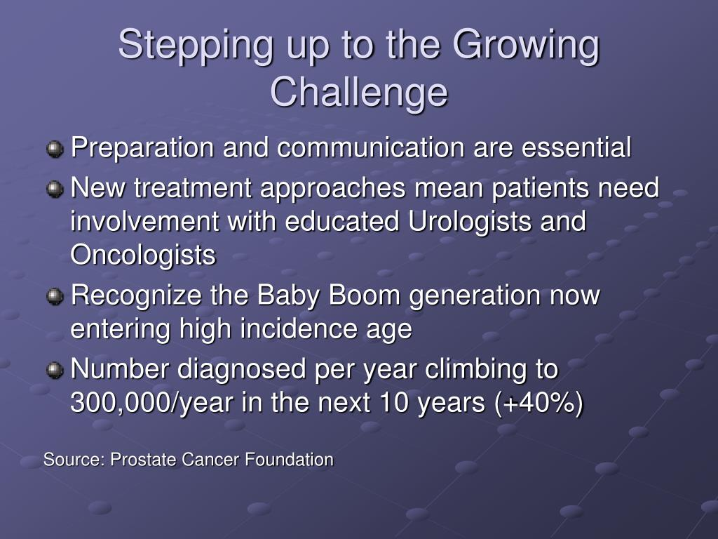Stepping up to the Growing Challenge