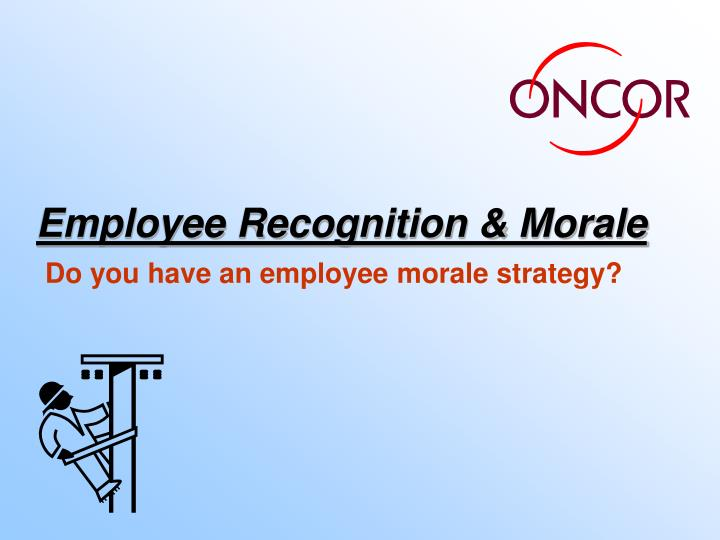 employee recognition morale n.
