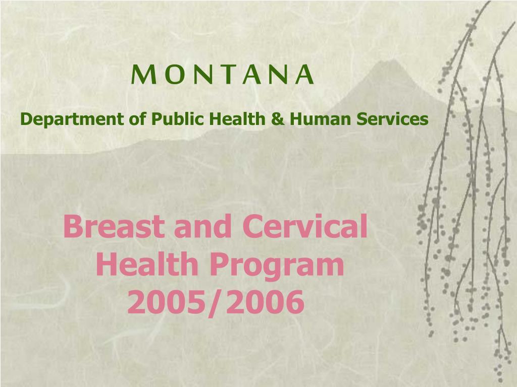 m o n t a n a department of public health human services l.