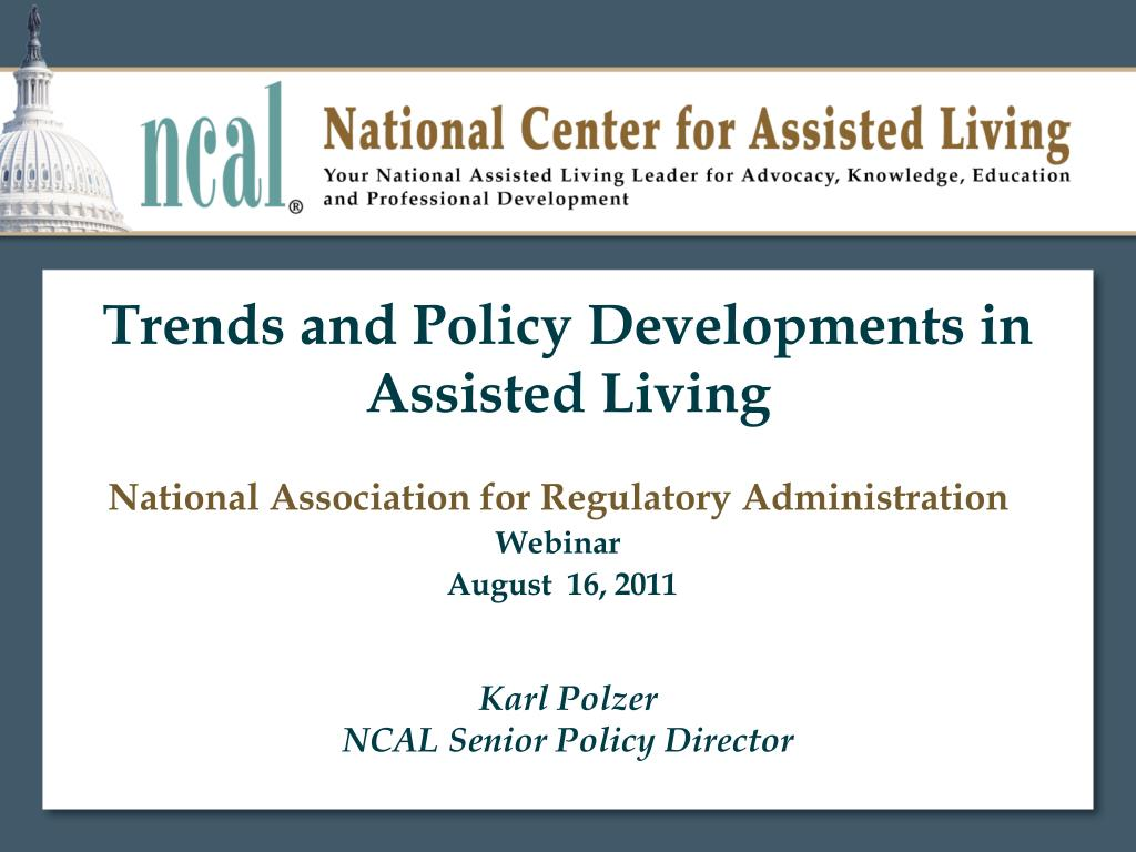 trends and policy developments in assisted living l.