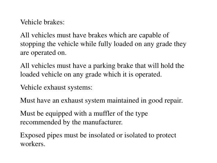 Vehicle brakes: