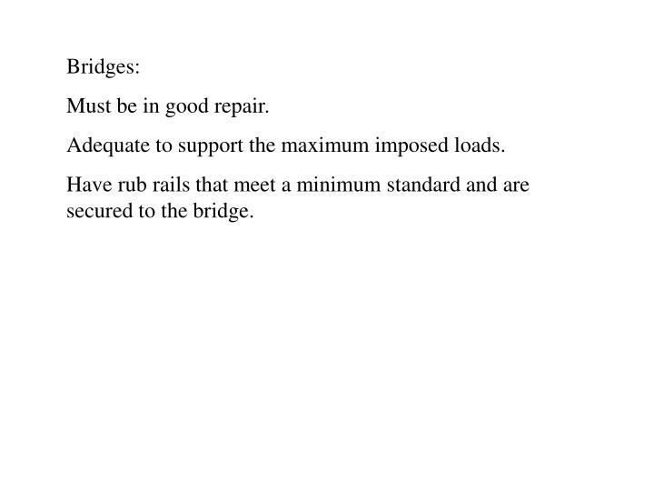 Bridges: