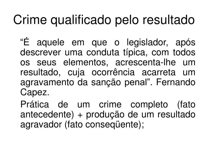 Crime qualificado pelo resultado