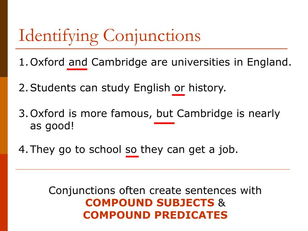 Identifying Conjunctions