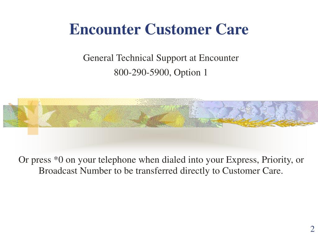 Encounter Customer Care