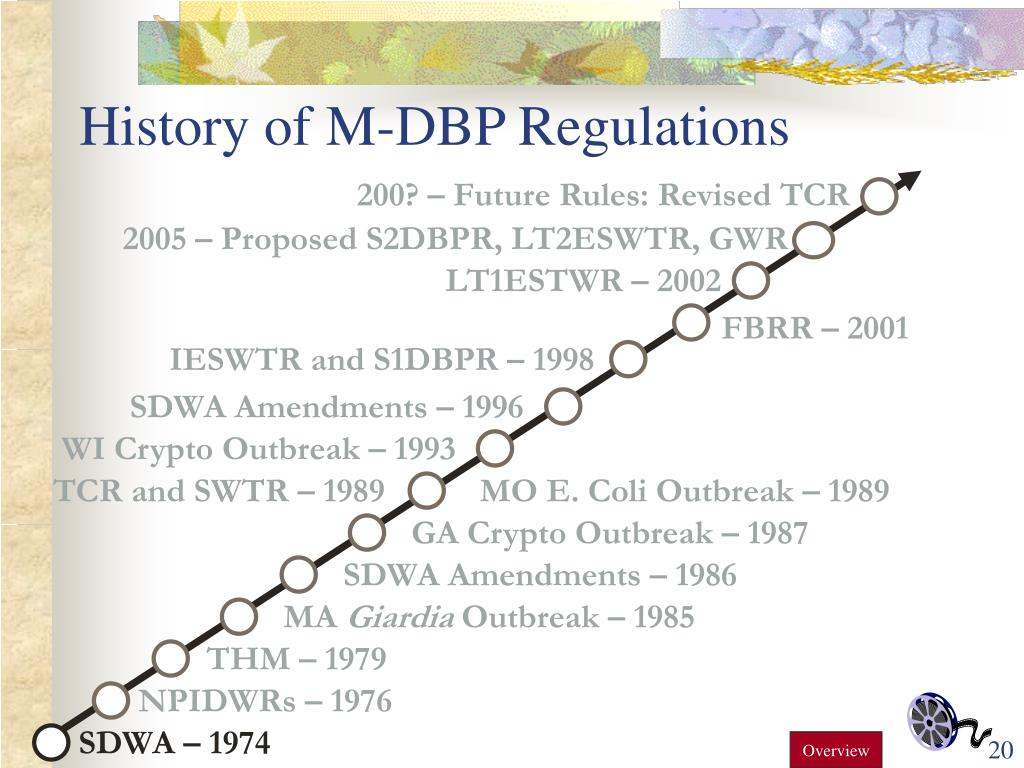History of M-DBP Regulations