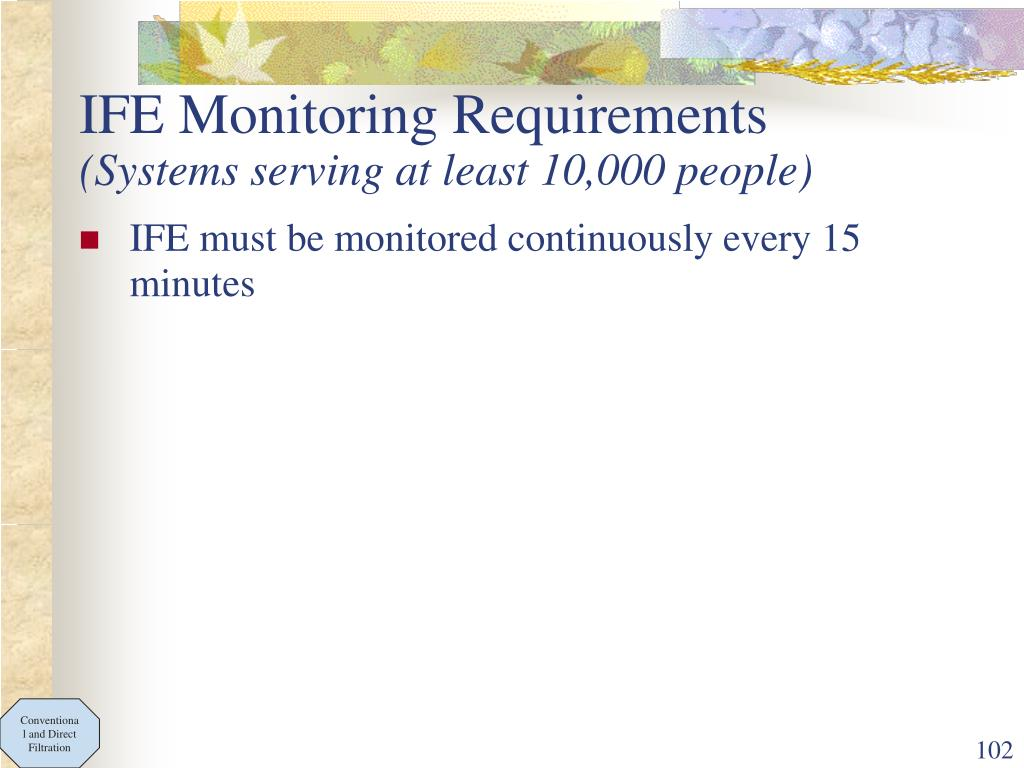 IFE Monitoring Requirements