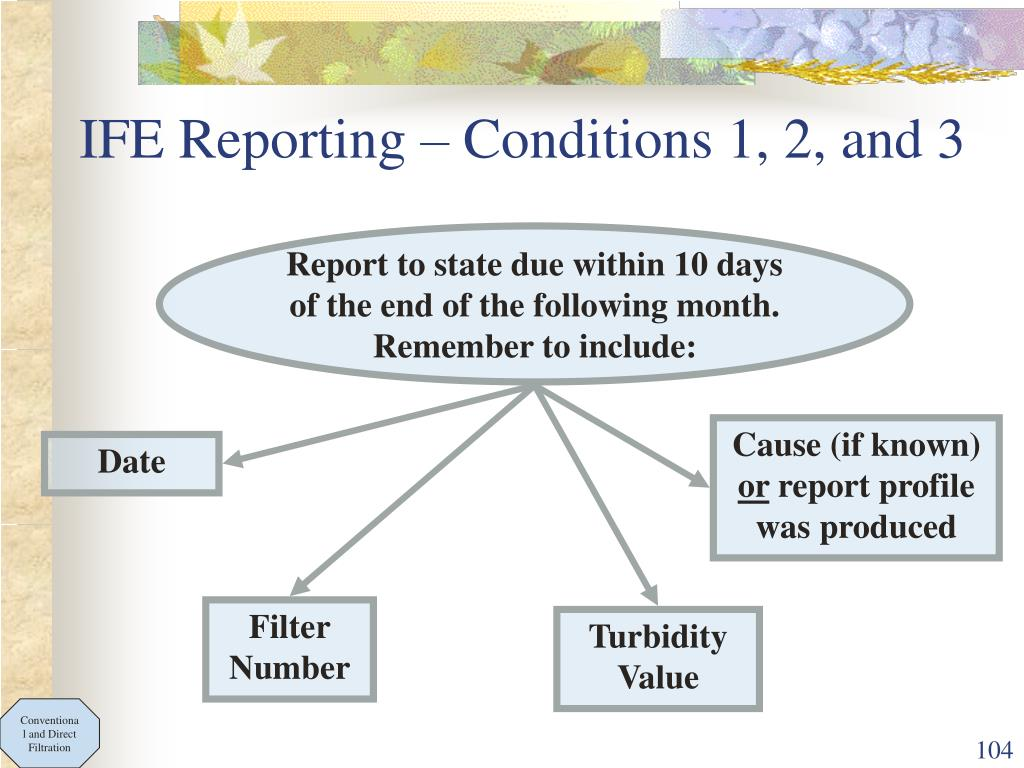 IFE Reporting – Conditions 1, 2, and 3
