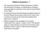 hilbert s questions 1