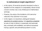 is mathematical insight algorithmic3