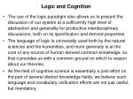 logic and cognition