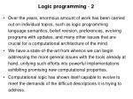 logic programming 2