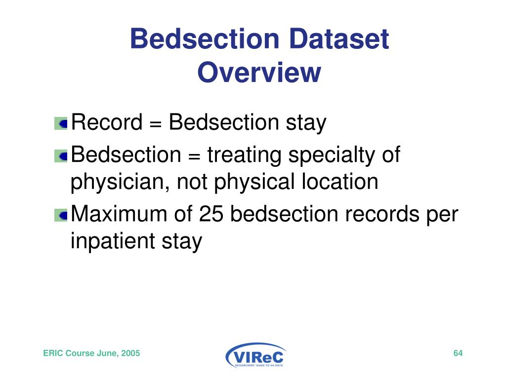Bedsection Dataset Overview
