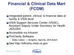 financial clinical data mart fcdm