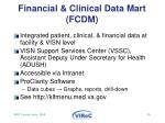 financial clinical data mart fcdm