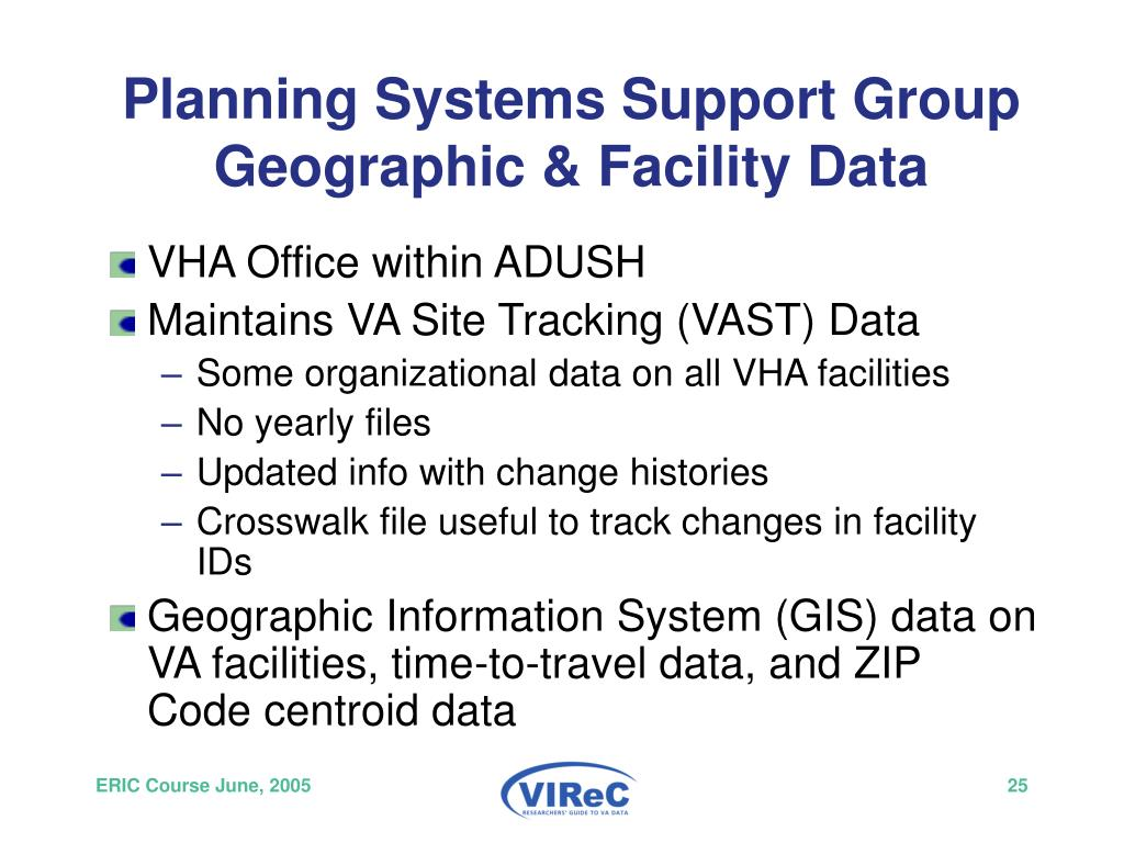 Planning Systems Support Group Geographic & Facility Data