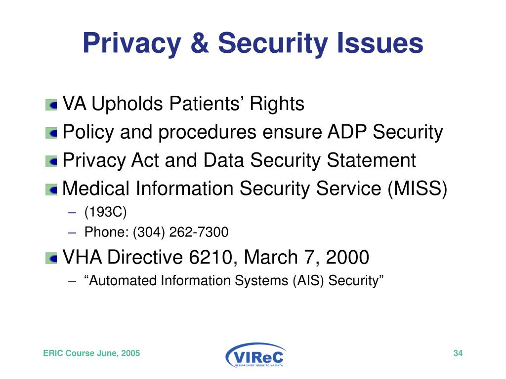 Privacy & Security Issues