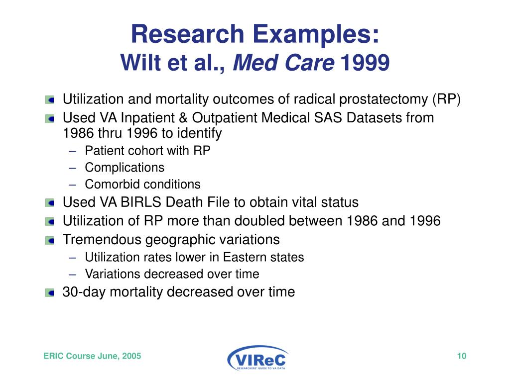 Research Examples: