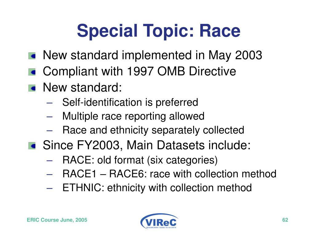 Special Topic: Race
