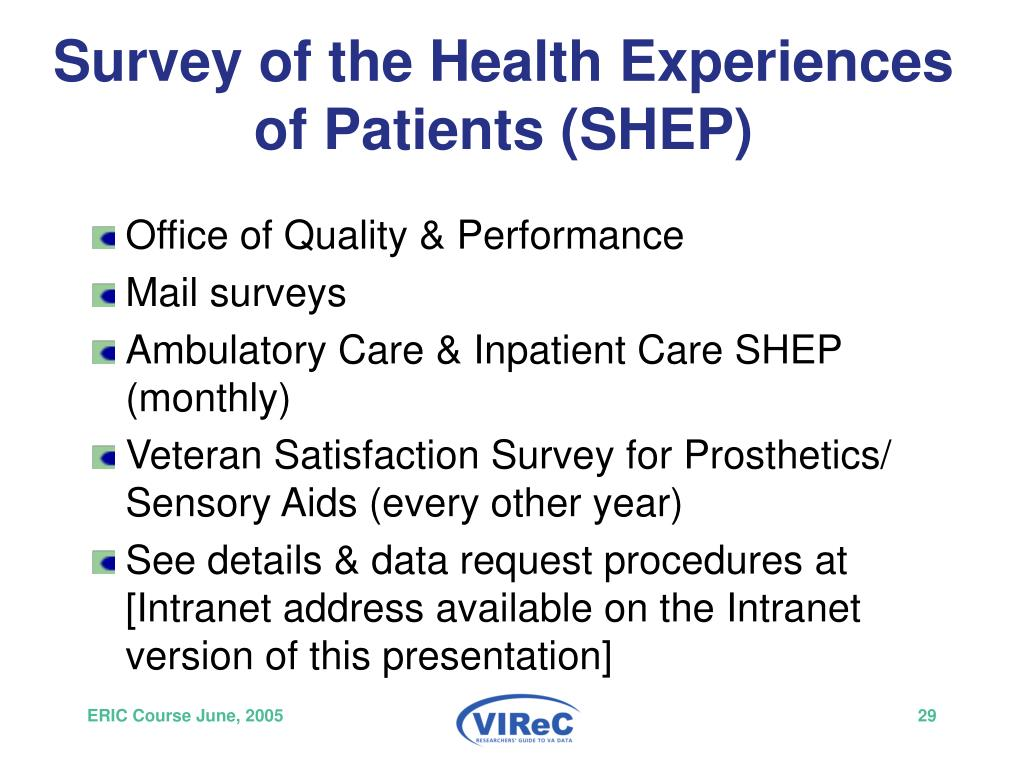 Survey of the Health Experiences of Patients (SHEP)