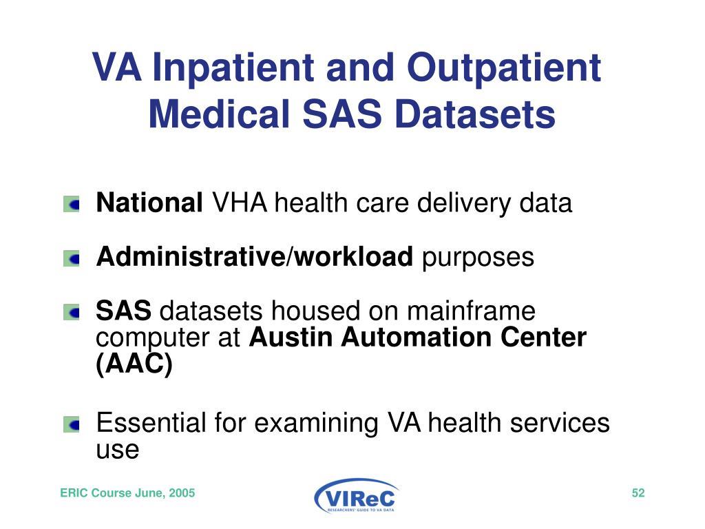 VA Inpatient and Outpatient