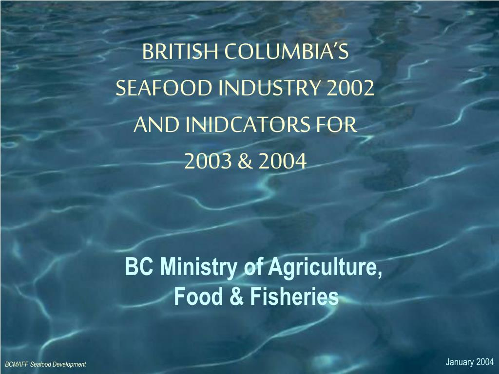 bc ministry of agriculture food fisheries l.